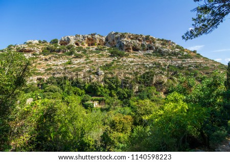 View over the valley of Myli, Crete, Greece Zdjęcia stock ©