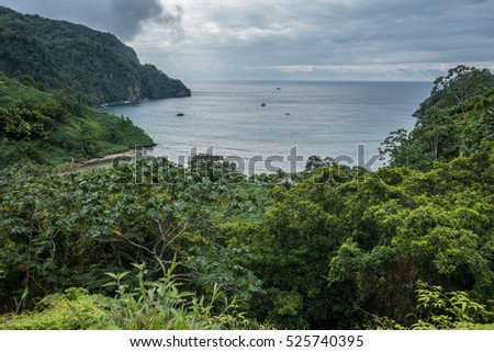 Shutterstock View over Wafers Bay Cocos Island Costa Rica