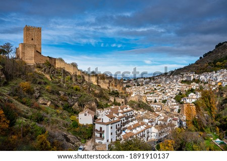 View over Yedra Castle in Cazorla Town, Jaen Province, Andalusia, Spain. Stock fotó ©