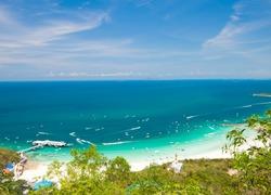 View point at Koh Lan Island Phattaya Thailand