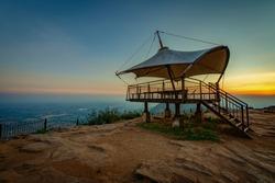 View point at Nandi Hills. Nandi Hills is a hill station located near to Bengaluru or Bangalore, Karnataka, India