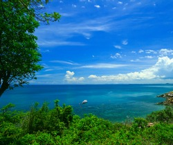 View point at Samed Island Thailand