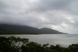 view point cape tribulation cloudy