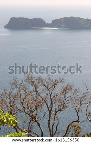 View point from the top of the highest mountain on the island of Pangulasian. Palawan Philippines, Southeast Asia, Asia