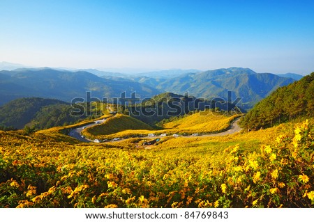 View point in the morning at Doi Mae U-Kor, Mae Hong Sorn province, Thailand