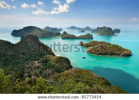 Stock Photo View point of Ang Thong Islands national park ,Thailand