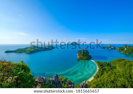 View Point of Koh Phaluai, Angthong National Park, Ko Phaluai, Ang Thong, Ko Samui District, Surat Thani, Thailand Zdjęcia stock ©