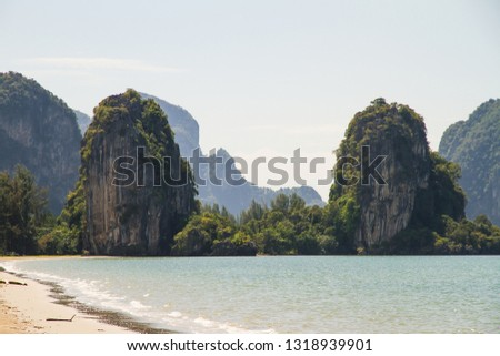 View Rajamangala beach is a tourist attraction of the Trang province, Thailand