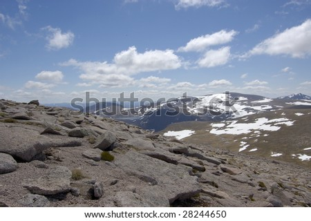 View south from the summit of Cairngorm, Scotland