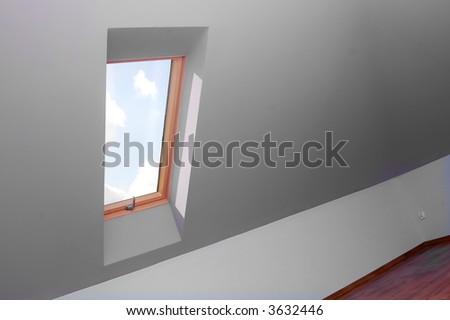 View through the window. Easy editable image.
