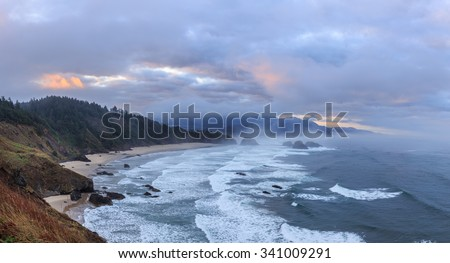 view to canon beach from ecola...