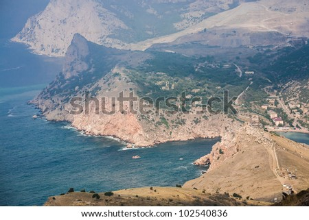View to Cembalo fortress in Balaklava (Balaklava, Crimea, Ukraine)