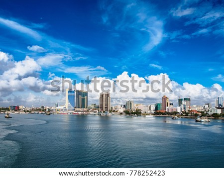 View to Dar es Salaam from sea. Stock fotó ©