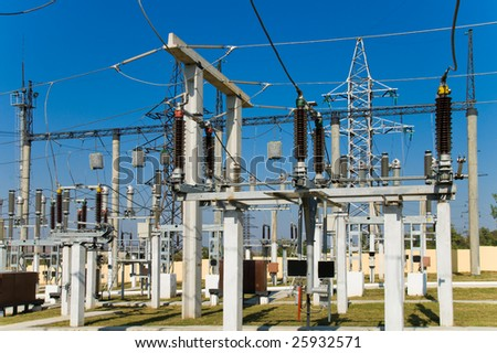view to high voltage substation