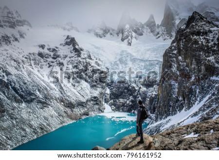 View to laguna sucia, El Chalten - Patagonia Argentina