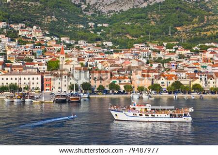 View to Makarska, Croatia - travel background