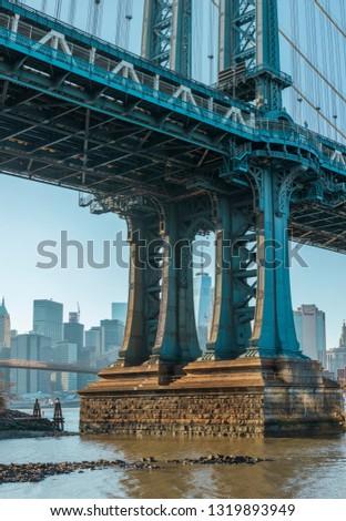 View to Manhattan Skyline from the Manhattan Bridge. #1319893949