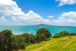 View to Rangitoto Island from North Head