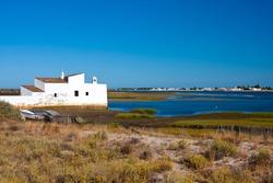 View to Ria Formosa Natural Park, Algarve, Portugal