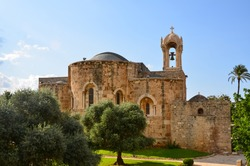 View to St John the Baptist church in Byblos Jbeil, Lebanon