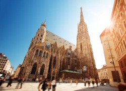 View to St. Stephen's Cathedral in Vienna, Austria