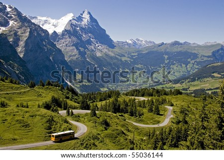 view to the mountain Eiger