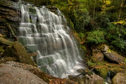 View to the shay run fall at the Blackwater Falls State Park, West Virginia, United States