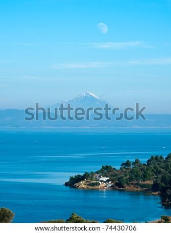 View towards Mt Athos