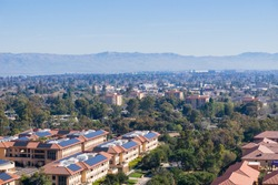 View towards Palo Alto, Stanford and the towns of south San Francisco bay