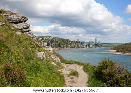 View towards Salcombe, Devon, England. #1427636669