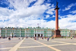View Winter Palace  in  Saint Petersburg. Russia