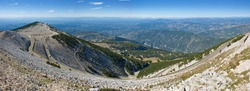 View with road on Mont Ventoux, panorama