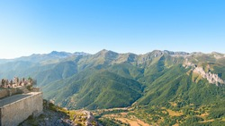 Viewpoint of Fuente De in Picos de Europa National Park, Cantabria, Spain