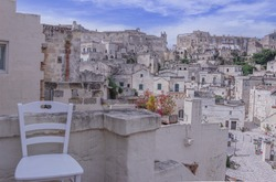 Viewpoint of Matera old town in Basilicata region, Italy.