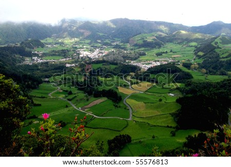 Viewpoint over Furnas in S. Miguel island - Azores