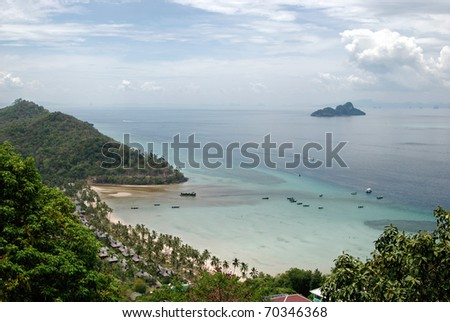 Viewpoint, Phi Phi island, Thailand - stock photo