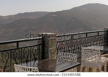 Photo of  Viewpoint to the mountainous landscape in Tizi ait barka, Morocco.