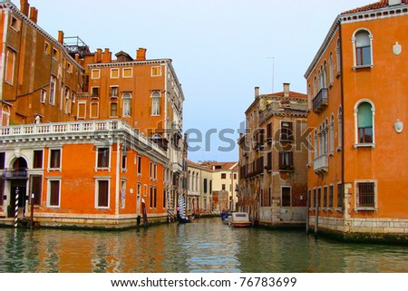 Views along the Grand Canal, Venice, Italy