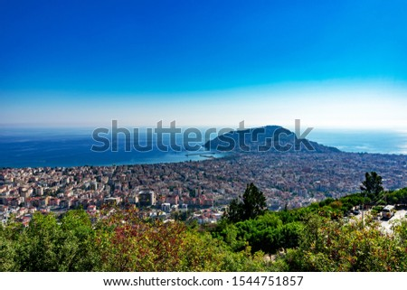 Views and panoramas from Alanya Turkey