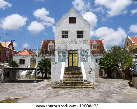 Views around the World Heritage site of Otrobanda Curacao Caribbean