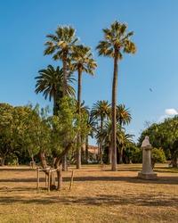 Views from the beautiful Citadel Park (Parc de la Ciutadella) located in Barcelona, Catalonia, Spain