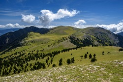 Views from the Gallina Pelada summit(Berguedà, Catalonia, Spain, Pyrenees) ESP: Vistas desde la cumbre de la Gallina Pelada (Berguedà, Cataluña, España, Pirineos)