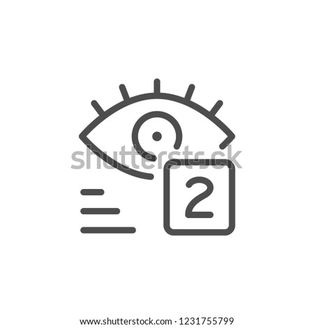 Views line icon isolated on white