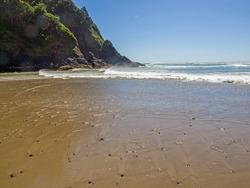 Views of a Rugged Rocky Beach on the Oregon Coast