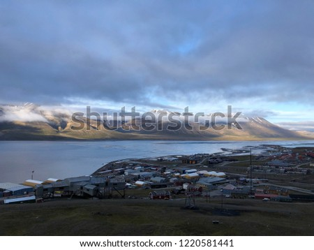 Views of and from Longyearbyen in Svalbard / Spitsbergen #1220581441