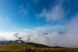 Views of Buzludzha Stara Planina. Seen in Bulgaria.