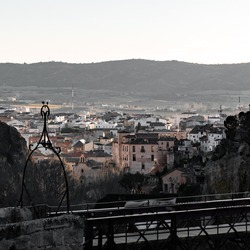 Views of Cuenca from behind of the San Pablos bridge