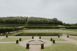 Views of French parc in summer