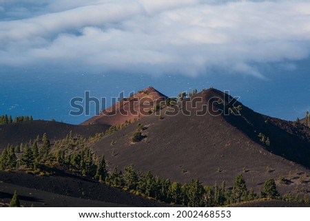 Views of Martin volcano from the top of Cumbre Vieja Natural Park. Foto stock ©