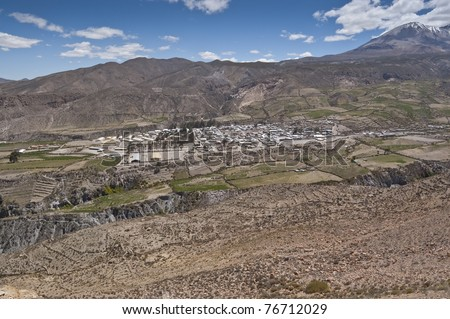 Views of Putre. It is a Chilean town in the altiplano at an altitude of 3,500 m (11,438 ft)